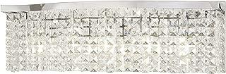 Minka Lavery Crystal Wall Light Fixtures 4805-77 Concentus Bath Vanity Lighting, 5-Light 300 Watts, Chrome