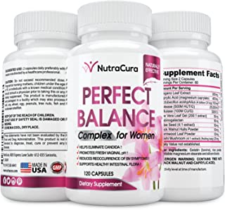 Perfect Balance Complex for Women - Vaginal Health Dietary Supplement - Helps Eliminate Candida - Promotes Fresh Vaginal pH -120 Capsules