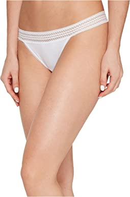 DKNY Intimates - New Classic Cotton Lace Trim Thong