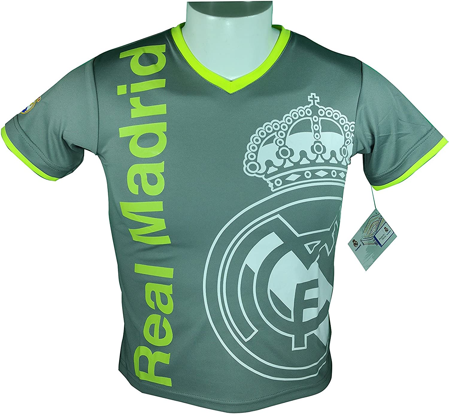Real Madrid Soccer Official Youth Soccer Training Performance Poly Jersey P002
