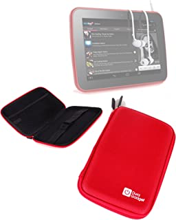 DURAGADGET Cherry Red Sturdy Hard Back Protective Shell Case for The Tesco Hudl 7