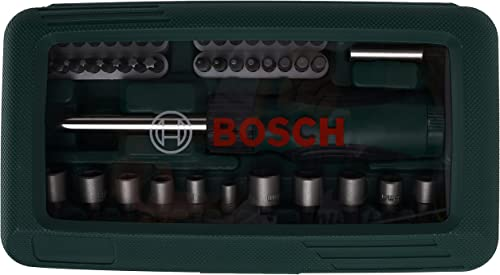 Bosch Set de 46 unidades para atornillar con atornillador manual (accesorios para taladro atornillador)