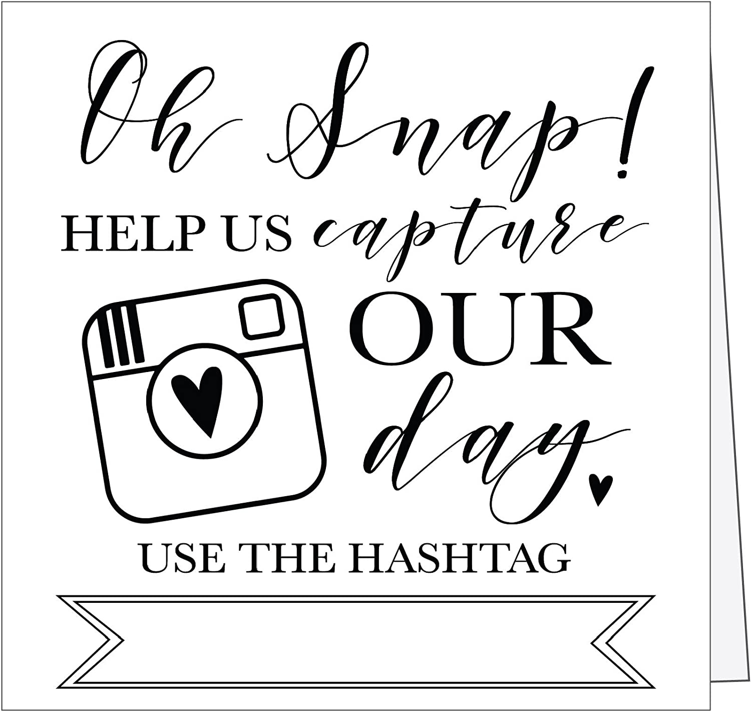 25 Selling and selling Bargain sale Black and White Wedding Hashtag Plac Table Top Vintage Signs