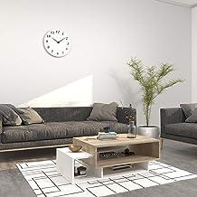 Theta design by homemania Caffe ', Gemini, White Table/Table Sonoma