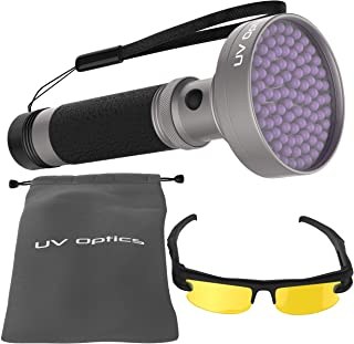 Powerful LED Ultraviolet Black light Flashlight, Detects Bed Bugs, Insects, Scorpions, Diamonds, Automotive Leaks, Pet Stains, Toxic Mold. Great for Campers, Night Fishing.