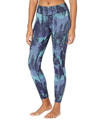 Smartwool Merino 250 Base Layer Pattern Bottoms (Deep Navy Forest Scape) Women