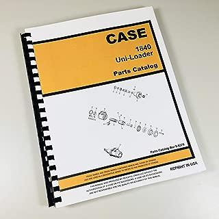 Case 1840 Uni Loader Parts Manual Catalog Skid Steer Assembly Exploded Views