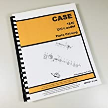 Case 1840 Uni Loader Parts Manual Catalog Skid Steer Assembly Exploded Views