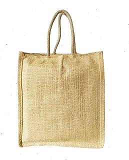 Clapcart Waterproof Jute Bag with Zip Closer Lunch Bags Multipurpose for Office Women & Men   Girls & Boys   Tote Lunch Bag