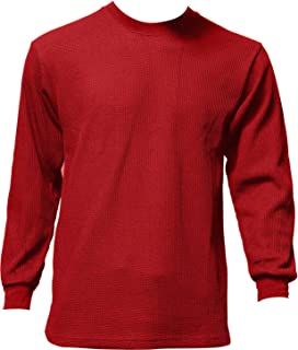 Men's Heavyweight Waffle Thermal Long Sleeve Crew Neck Top