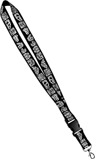 Print Lanyard- Satin Key Lanyard with Side Release Buckle and Snap, ID Holder - 1 Inch, Northwest Native American Indian Totem