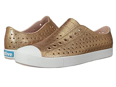 Native Shoes Jefferson Bling (Rose Gold Bling/Shell White) Slip on Shoes