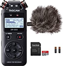 Tascam DR-05X Stereo Handheld Digital Audio Recorder & USB Interface Bundle with Movo