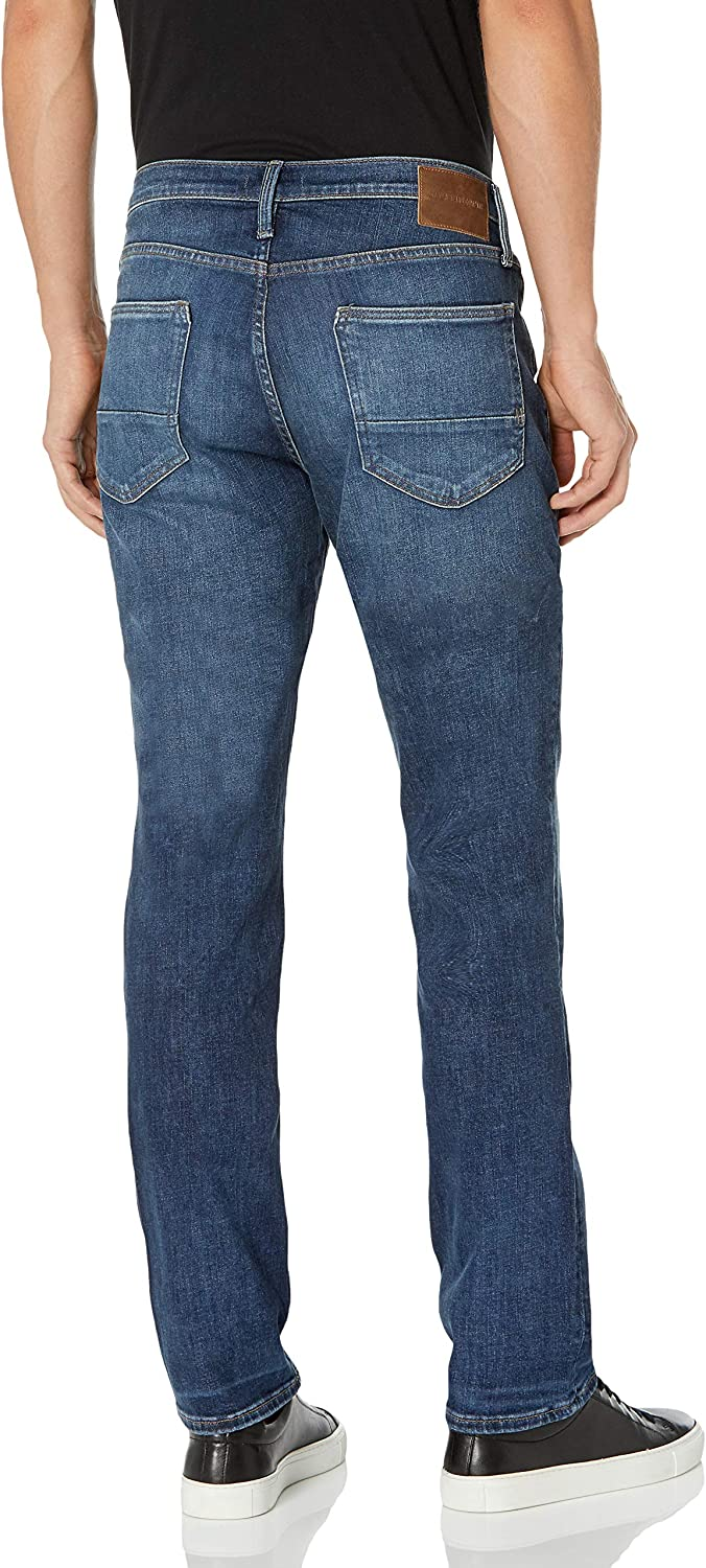 Mens Machray Machray Relaxed Fit Straight Leg Dark Wash Jeans Silver Jeans Co