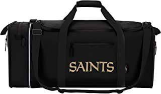 NFL New Orleans Saints NFL Steal Duffel, Black, Measures 28