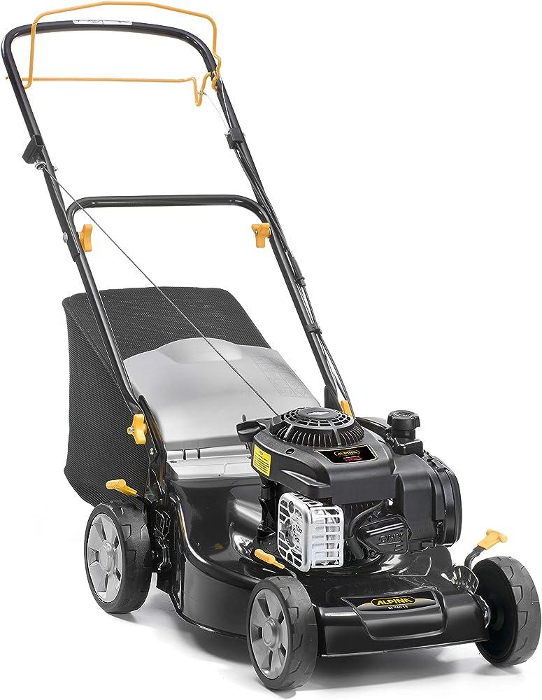 Alpina 295492024/A19 Cortacesped Gasolina BL 460 SB, 125 CC, Negro, Ancho de Corte 46 cm, Capacidad de Bolsa 55 L