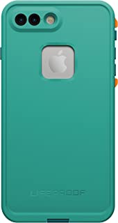 LifeProof 77-53998 FRE SERIES Waterproof Case for iPhone 7 Plus (ONLY) - Retail Packaging - SUNSET BAY (LIGHT TEAL/MAUI BLUE/MANGO TANGO)