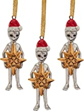 Design Toscano Wiseman Star Christmas Alien Holiday Ornament, Full Color