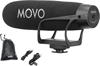 Movo VXR2021 Universal Supercardioid Condenser Shotgun Microphone Compatible with iPhone, Android Smartphones and Tablets. DSLR, Mirrorless Cameras, Camcorders, Recorders, Laptops, Computers and More