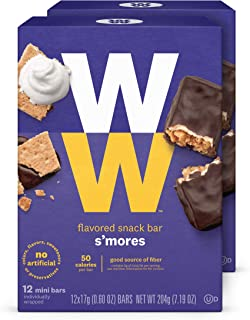 WW S'mores Mini Bar - Snack Bar, 2 SmartPoints - 2 Boxes (24 Count Total) - Weight Watchers Reimagined