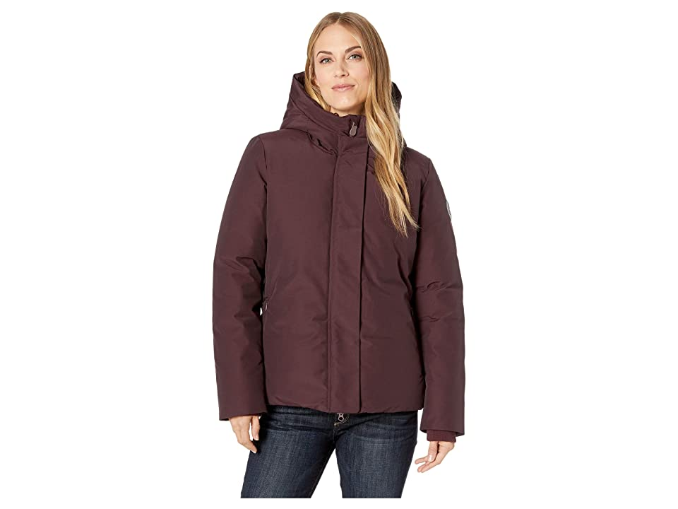 Save the Duck Short Coat with Faux Fur (Burgundy) Women