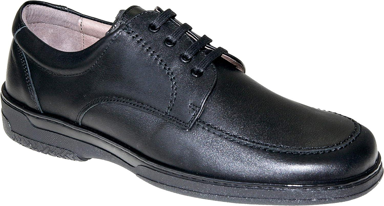 Primocx Men's 6992 Lace-up Flats Black Black