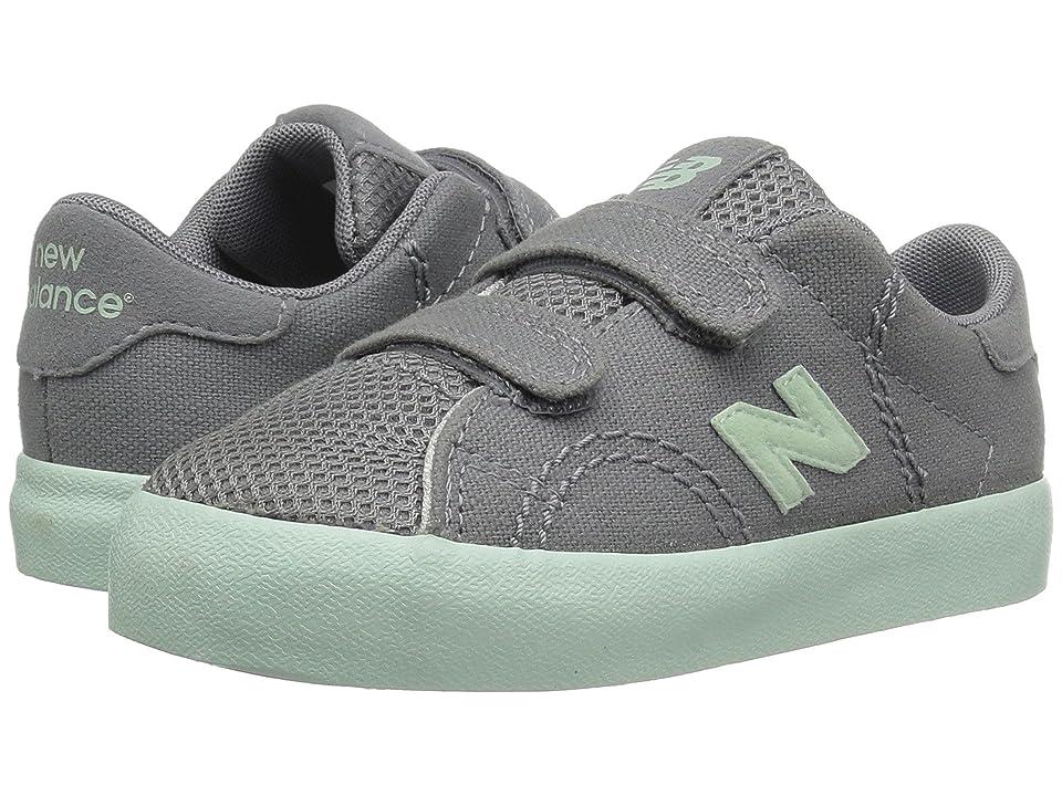 New Balance Kids KVCRTv1I (Infant/Toddler) (Silver Mink/Seafoam) Girls Shoes
