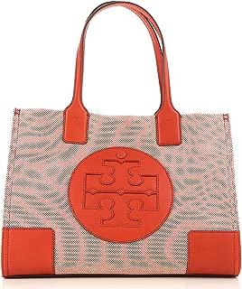 Tory Burch Ella Ladies Mini Two Tone Canvas Tote Bag