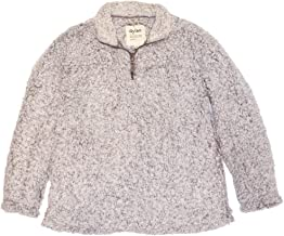 Dylan by True Grit Women's Frosty Tipped Pile 1/4 Zip Stadium Pullover