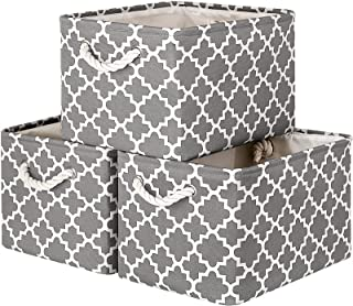 WISELIFE Storage Baskets [3-Pack] Large Collapsible Storage Bins Boxes Cubes for Clothes Toys Books, Perfect Storage Organ...