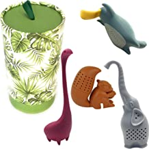 Loose Leaf Tea Infuser Set Of 4 By Hometiz: Sweet And Funny Shapes Of Animals, Silicone Herbal Tea Strainer For Different ...