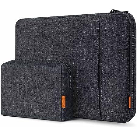 Inateck Housse 13 Pouces 360° Protection Compatible avec Air M1 / Pro M1 2021 2020, XPS 13, MateBook 13, Surface Pro 7/6/X/5/4/3 avec Poche d'Accessoires - Noir Gris
