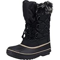 VEPOSE Women's Waterproof Mid Calf Lace Snow Boots