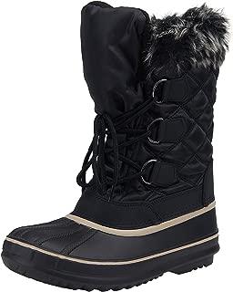 Women's Snow Boots Waterproof Mid Calf Lace Up Warm Winter Booties