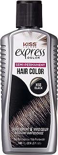Kiss Express Semi-Permanent Hair Color 100mL (3.5 US fl.oz) (1 Count, Black)