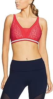 Lorna Jane Women's Valentina Sports Bra, Varsity Red/White