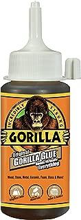 Gorilla 5000408 Original Gorilla Glue, Waterproof Polyurethane Glue, 4 ounce Bottle, Brown