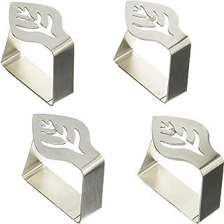 4 pezzi stile shabby chic in ghisa Pesi per tovaglia a forma di oggetti da giardino colore: bianco
