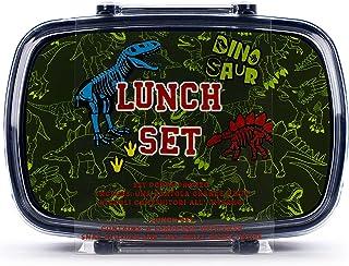 Tri-Coastal Design - Behållare för lunch i åter bambu, ger lätt och portabel bambu Bento Lunch (Dinosaur)