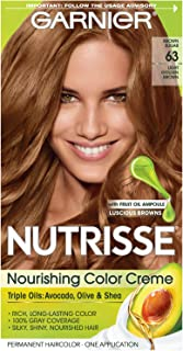 Garnier Nutrisse Nourishing Color Creme [63] Light Golden Brown 1 ea