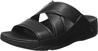 Fitflop Chi Slippers for Men, Black, 44 EU