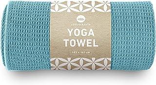 Lotuscrafts Yoga Handtuch Wet Grip - rutschfest & Schnelltrocknend - Antirutsch Yogatuch mit hoher Bodenhaftung - Yogahand...