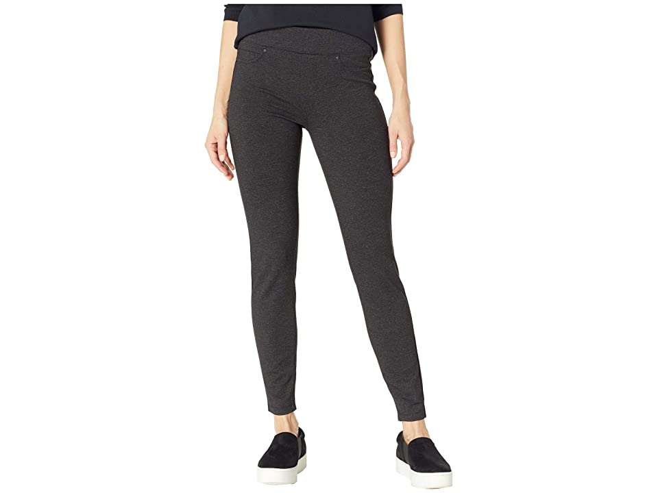 Liverpool Sienna Pull-On Leggings in Marled Ponte Knit (Charcoal) Women