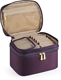 CHICECO Travel Makeup Train Case Toiletry Bag Cosmetic Bag - Double Layer