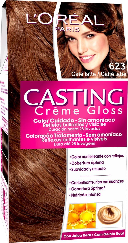 LOréal Paris Coloración Sin Amoniaco Casting Créme Gloss 623 Café Latte