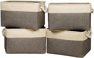 Univivi Bac Rangement Tissu,Panier Rangement Tissu avec Deux Poignées,Peut Stocker des Jouets, des Vêtements, des Sacs, de...