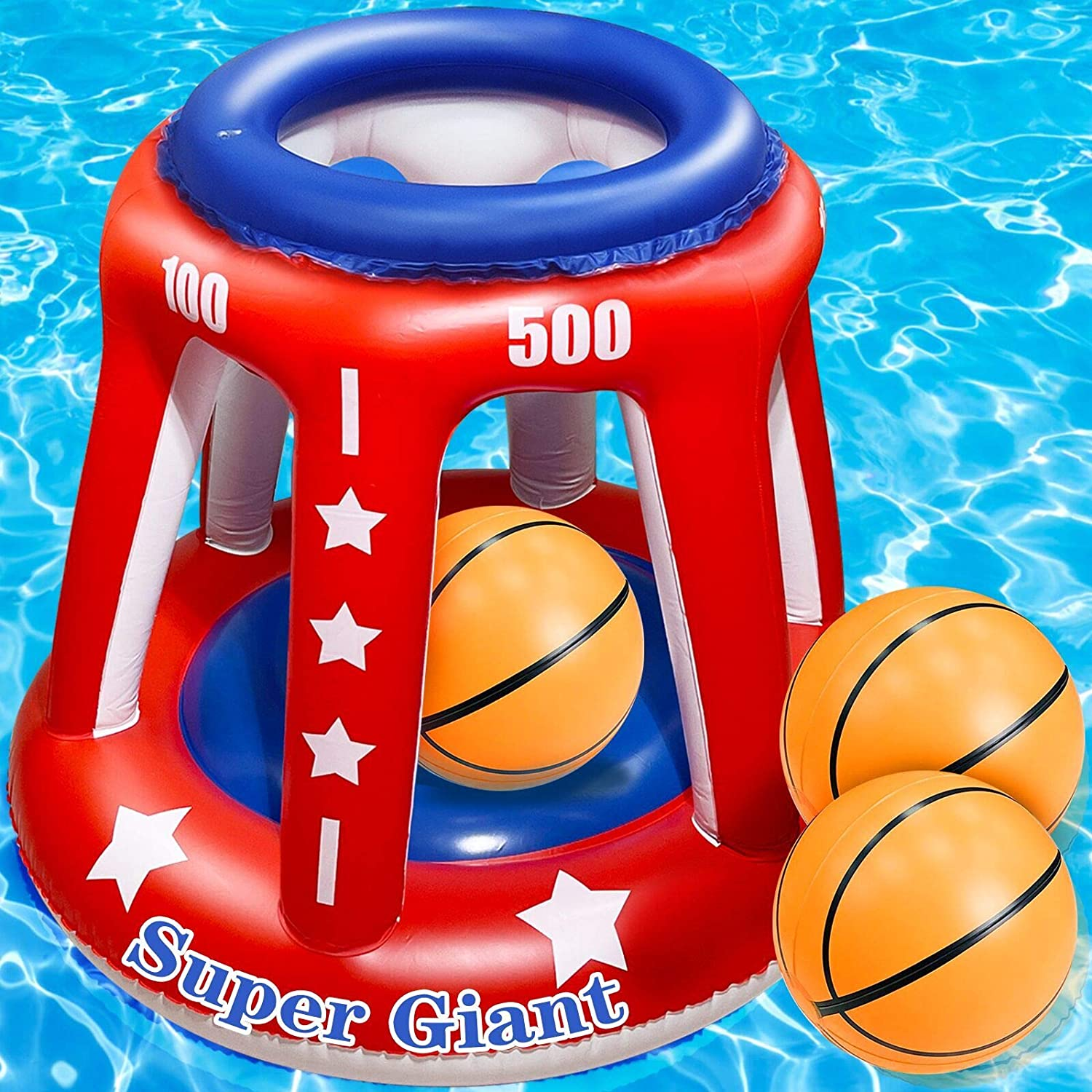 TURNMEON San Francisco Mall 4 In 1 Set Giant Basketball Hoop Manufacturer OFFicial shop 36'' Pool w Inflatable