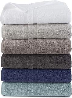 Martex Purity Antibacterial Cotton Towel Set with SILVERbac, Dark Blue, 6 Piece