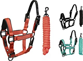 Derby Originals Blackout Collection Safety Reflective Breakaway Halter with Matching Lead Rope
