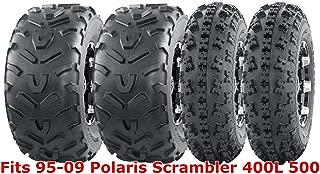 Full set WANDA ATV tires 23x7-10 & 22x11-10 95-09 Polaris Scrambler 400L 500